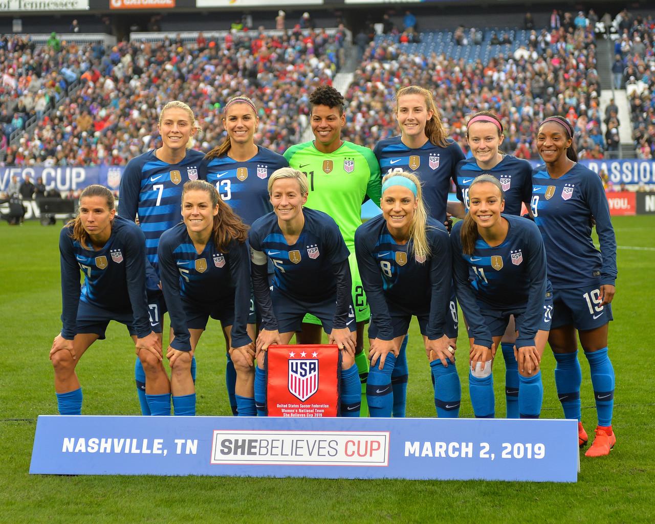 美国女足8届世界杯全部打进4强,最差成绩为季军