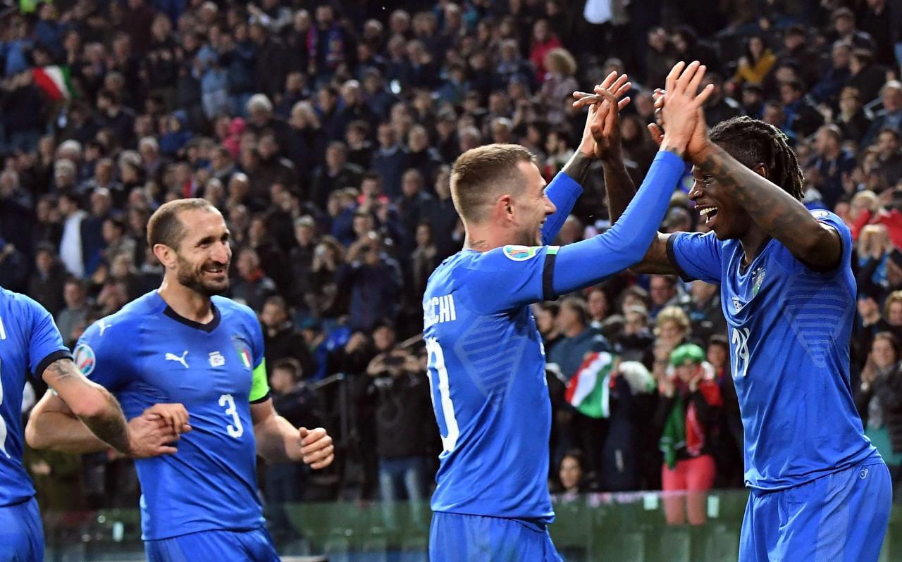 意大利国家队过去15粒进球 分别来自于不同的15名球员