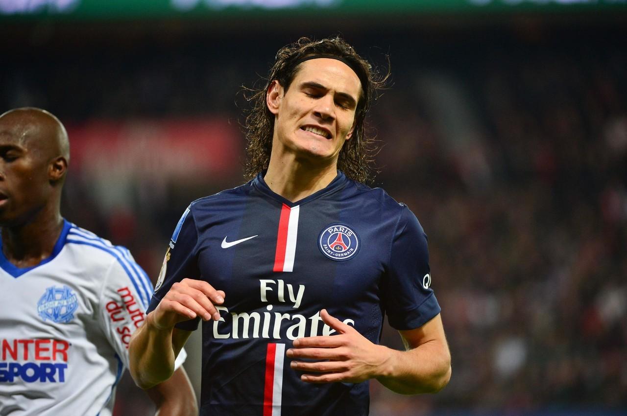 巴黎更新球队伤情:卡瓦尼等5人受伤
