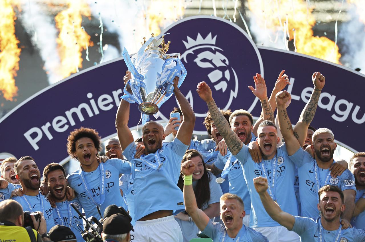 曼城揽获三冠,球员奖金总额达1500万镑