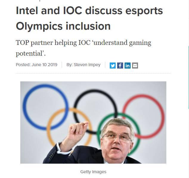 英特尔积极与奥委比赛:将电子竞技引入奥运2017上海台球商谈图片