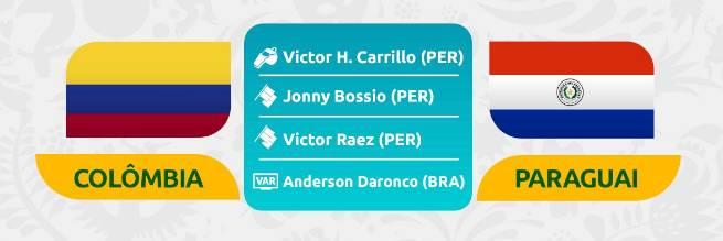 哥伦比亚vs巴拉圭首发:法尔考、夸德拉多先发,J罗替补