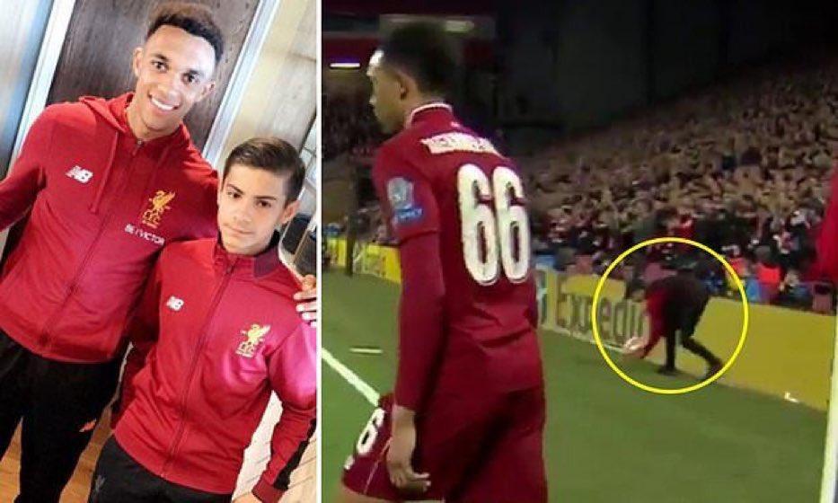 助阿诺德快发角球淘汰巴萨,利物浦球童代表红军U18进球
