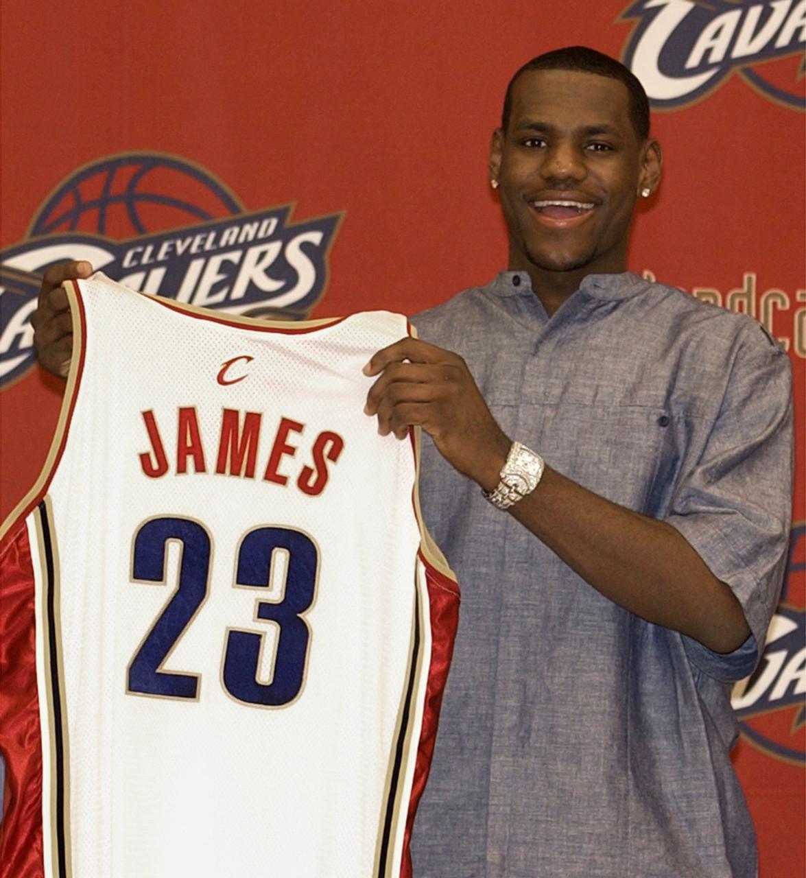 16年前的今天:詹姆斯生涯常规赛首秀砍25+6+9+4
