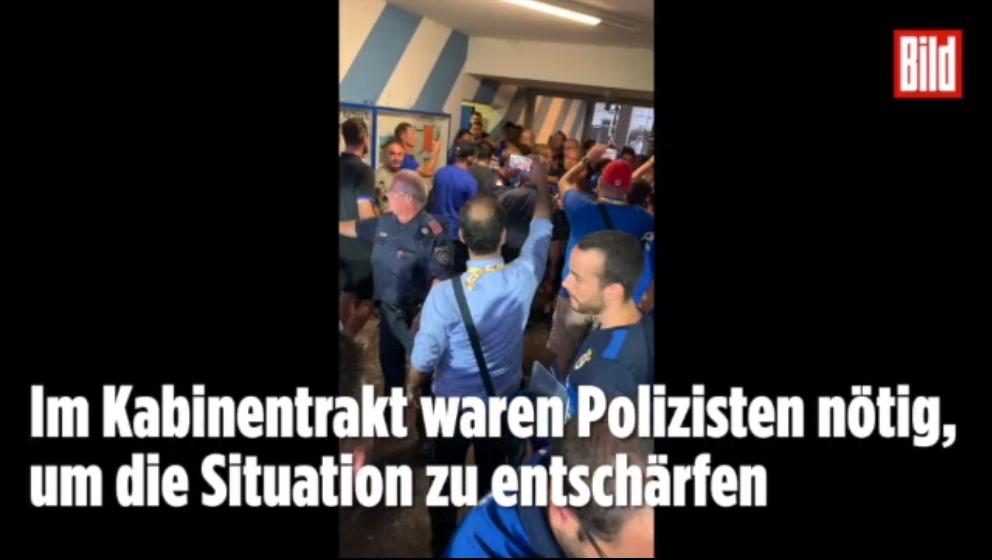 图片报:柏林赫塔和费内巴切赛后起冲突,警方到场介入