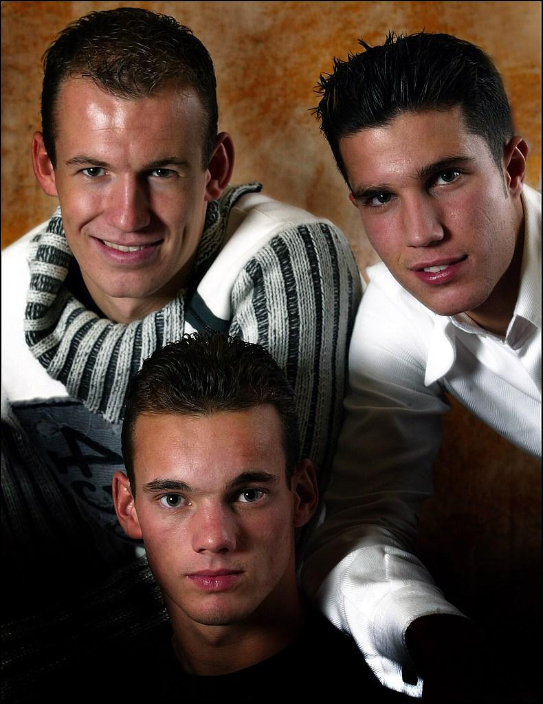 年轻时的斯内德、罗本和范佩西