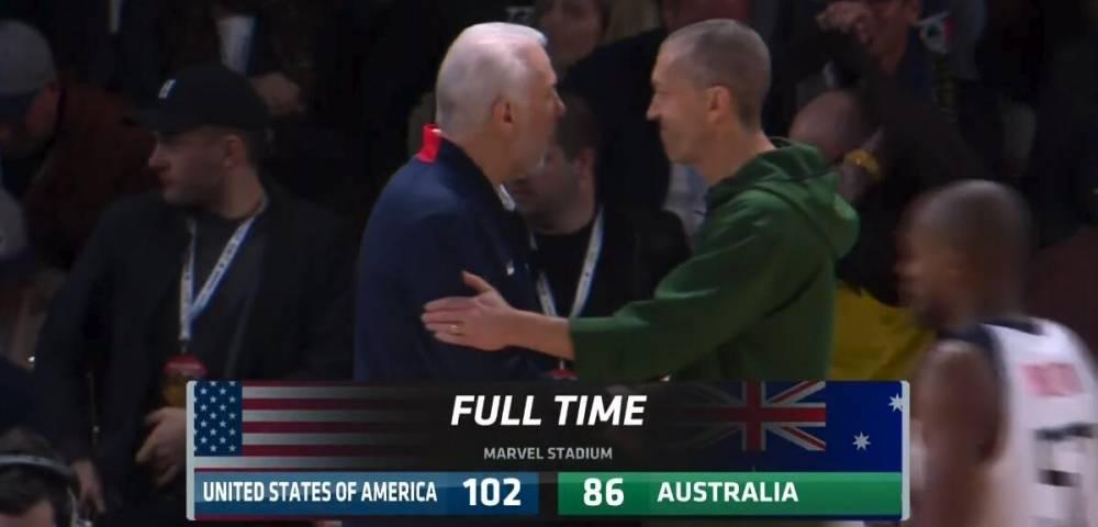 美国与澳大利亚热身赛现场达51218观众 创澳大利亚纪录