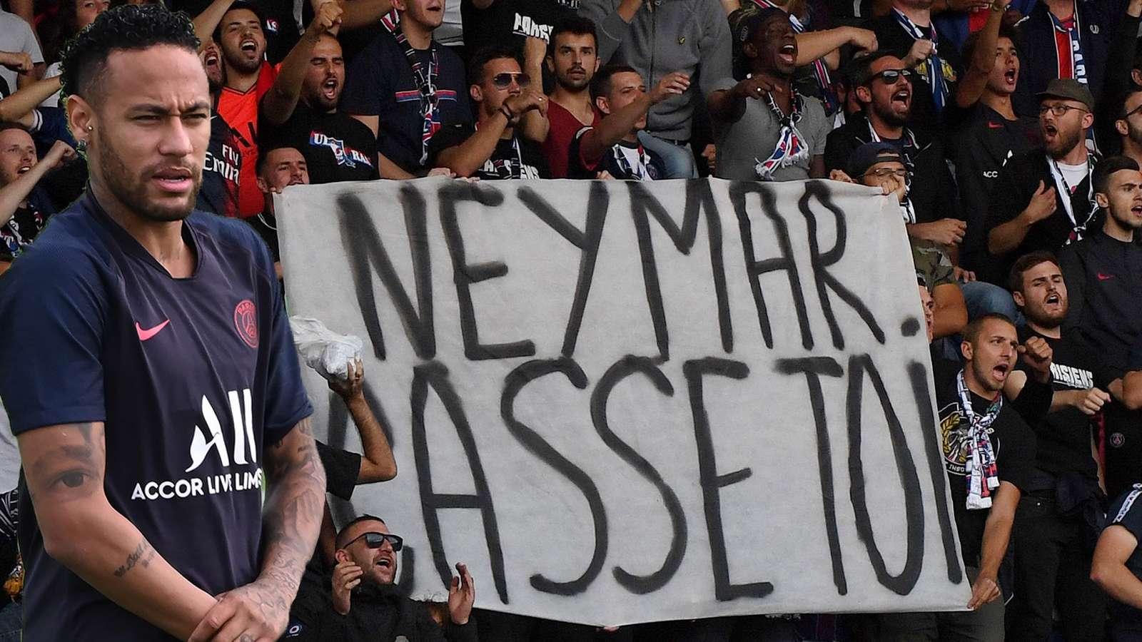 巴黎死忠球迷公告:对内马尔采取冷遇态度 他的言行伤害球队