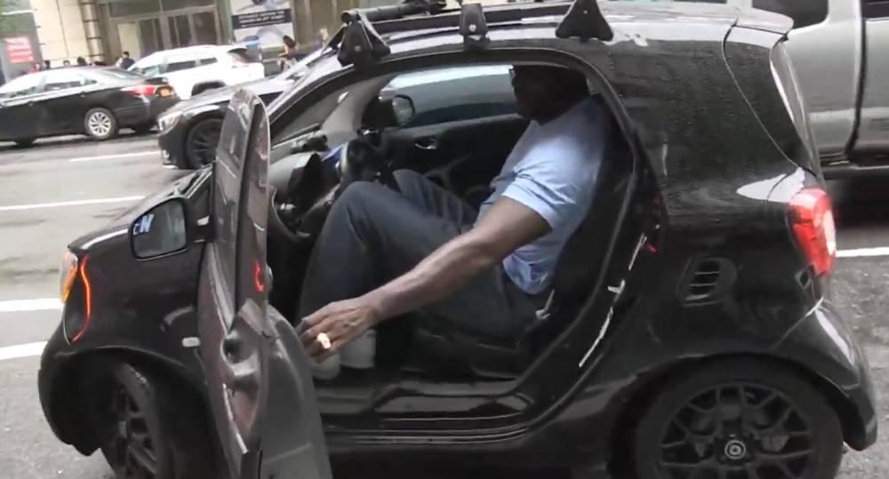 【影片】這都能坐進去!歐尼爾在紐約街頭駕駛Smart