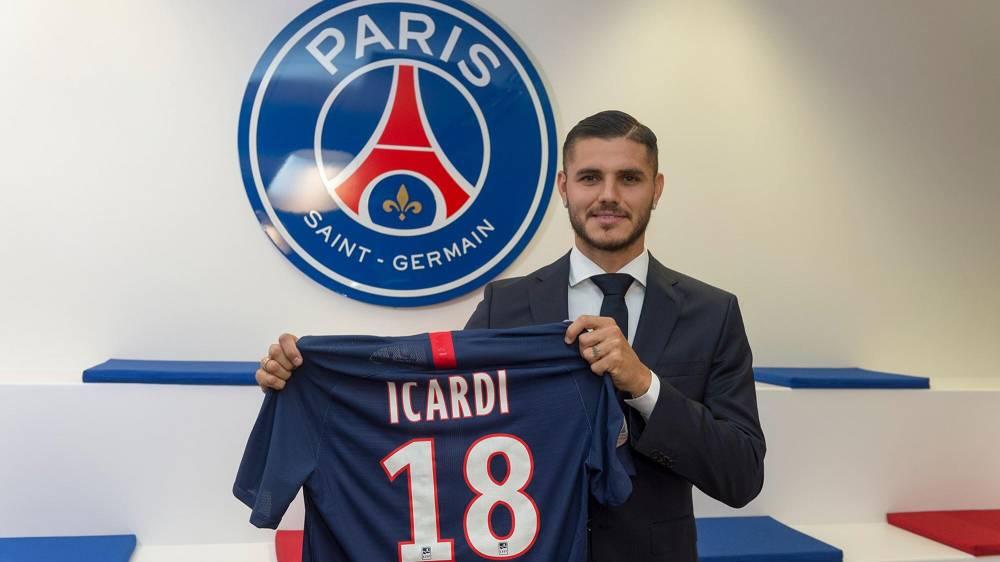 加盟巴黎后,伊卡尔迪平均每17次触球就能收获1球