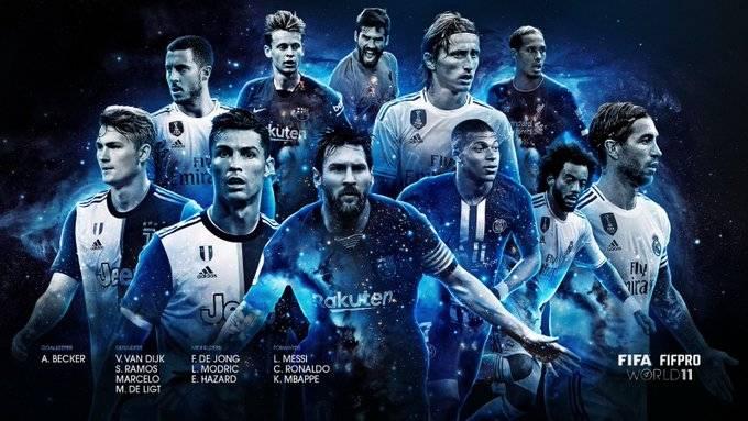 FIFA年度最佳阵容:梅罗领衔,皇马四人