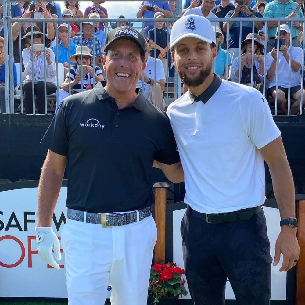 库里晒与高尔夫球星米克尔森合照:向最出色的人学习