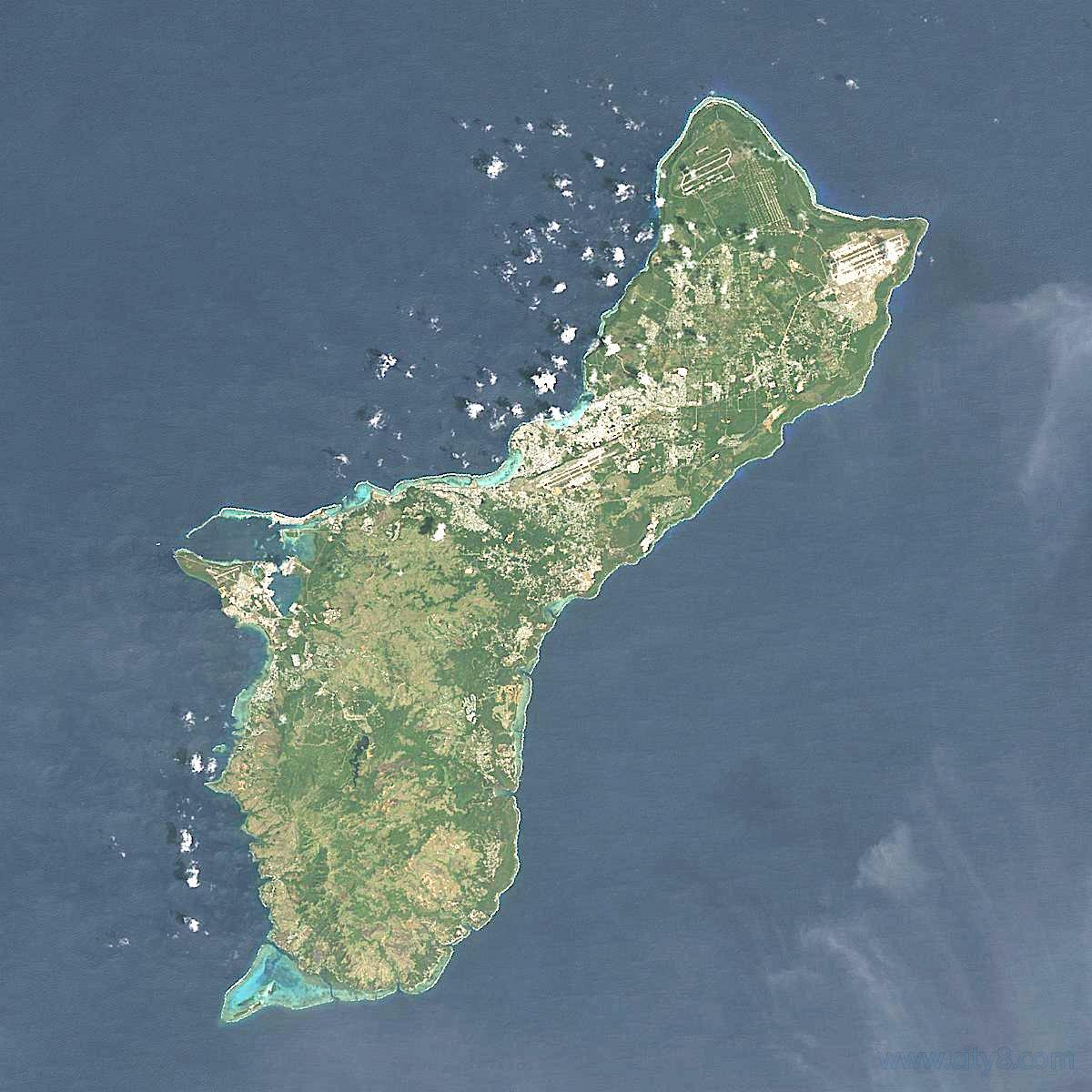 关岛地图放大版