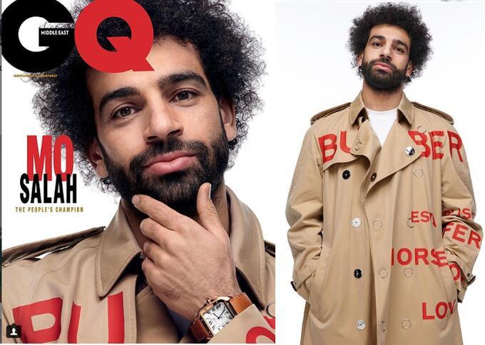 《GQ》杂志评选年度奖项,萨拉赫当选中东版年度男性