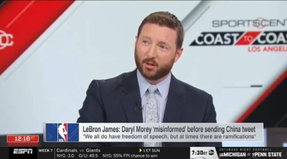 篮球晚报:詹姆斯曾暗示NBA双标 福建队深入接触小斯