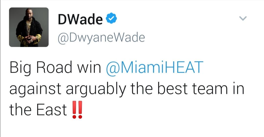 韦德庆祝热火逆转雄鹿:可以说是击败了东部最好的球队