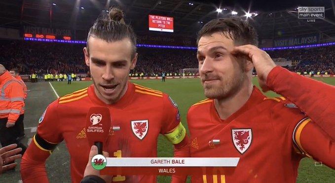 当贝尔和拉姆塞同时首发时,威尔士国际比赛胜率达60.7%