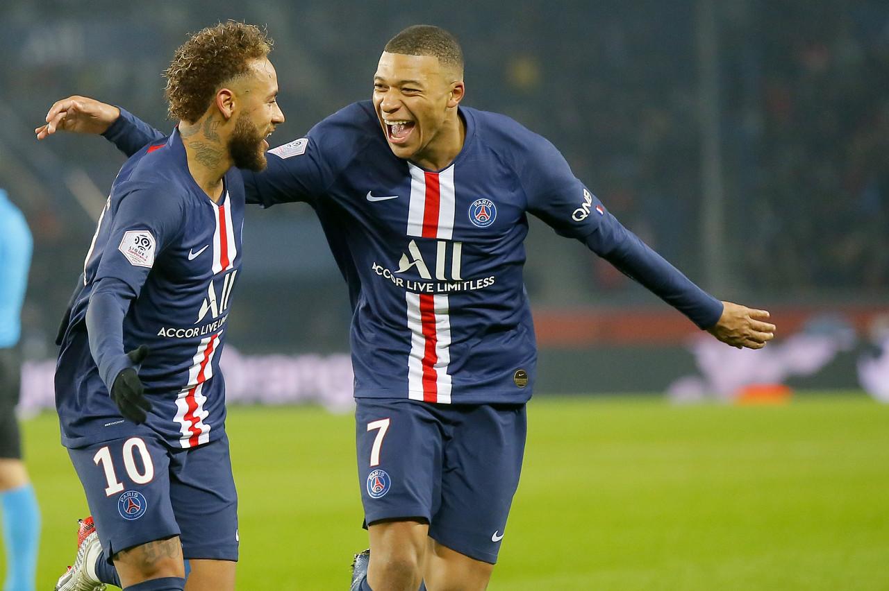 队报为巴黎评分:内马尔和姆巴佩分获队内一二名