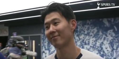 孙兴慜:刚拿到球本想传给阿里 很骄傲能在主场打进这样的球