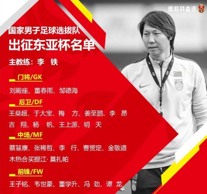 东亚杯球队身价中国847.5万欧排第三 日本平均年龄22.91岁最年轻