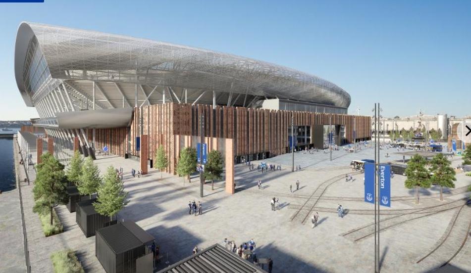 建新家!埃弗顿新球场设计方案出炉