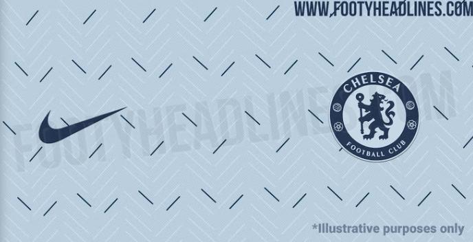 切尔西下赛季客场球衣谍照:钴蓝色搭配淡灰色+海军蓝线条