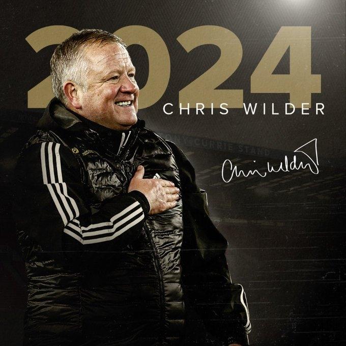 官方:谢菲联与主帅怀尔德续约至2024年