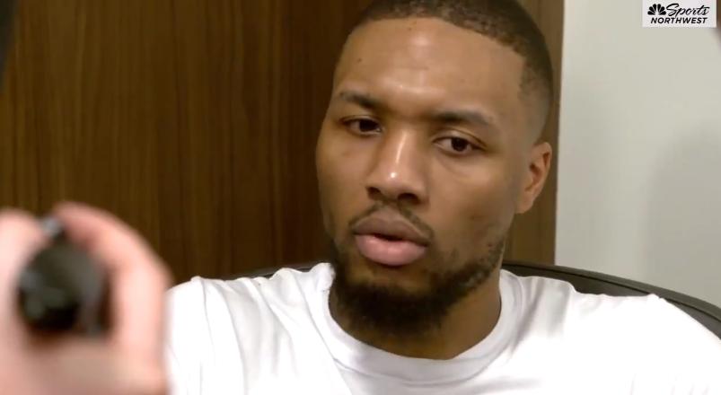 利拉德:我们在冲击季后赛 漏吹干扰球让我们输掉一场关键比赛