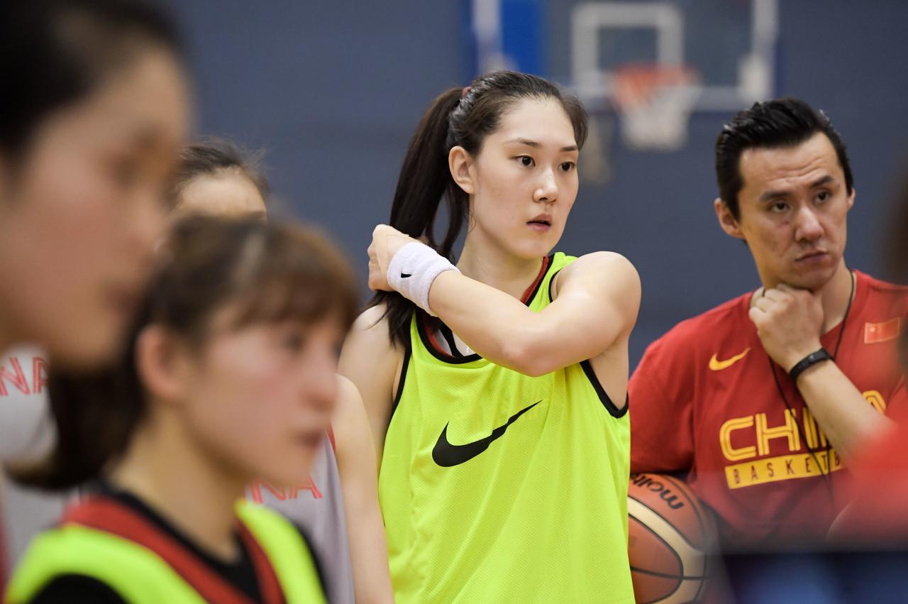 今日图集:中国女篮的赛场风采