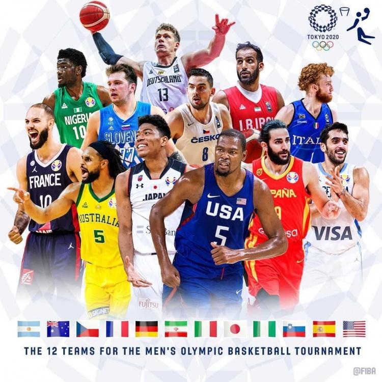 【蜗牛电竞】FIBA发布奥运男篮海报:KD&米尔斯&八村塁&东契奇登上封面