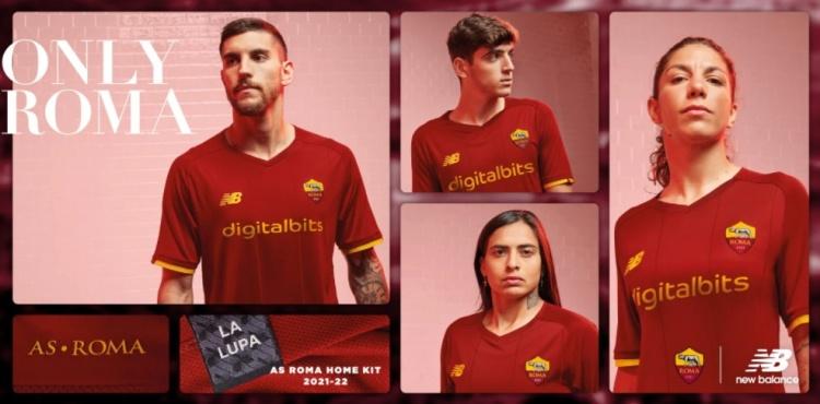 【蜗牛电竞】罗马发布新赛季主场球衣:深红色为主色调,同时黄色作为搭配