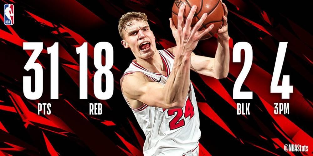 NBA官方评选今日最佳数据:马尔卡宁31+18当选