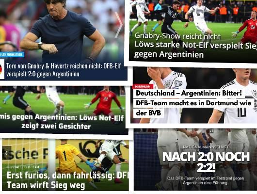 德甲今日头版:德国队表现得像多特 穆勒在计划未来
