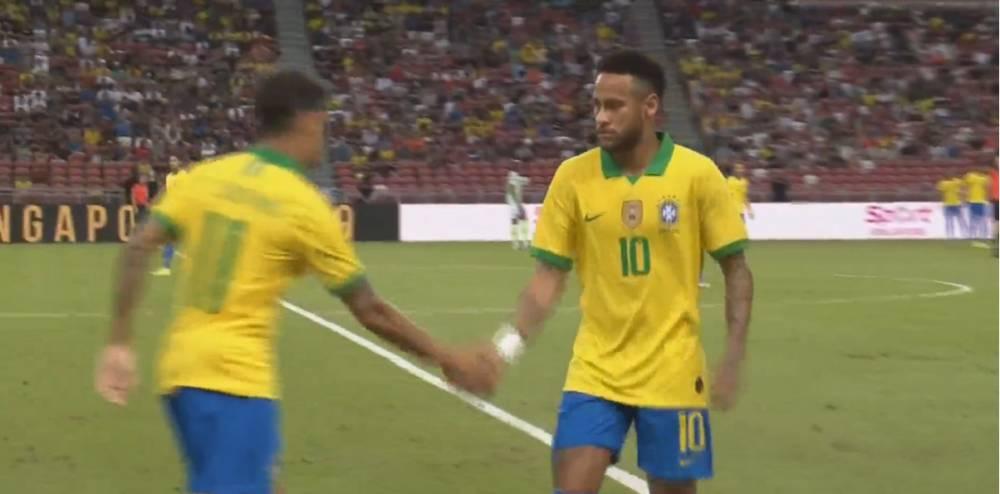 半场-内马尔12分钟被换下对手精彩破门 巴西0-1尼日利亚