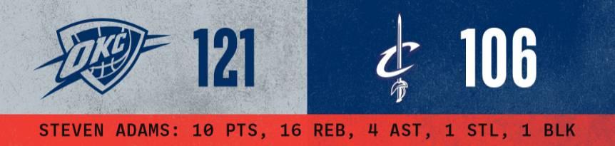 格伦戴维斯1月5日 NBA常规赛 雷霆vs骑士 录像 集锦