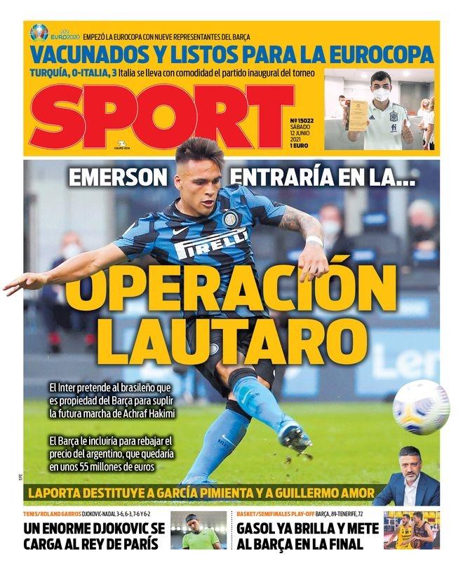 西甲今日头版:西班牙全员已接种疫苗 埃莫森或加入劳塔罗交易中