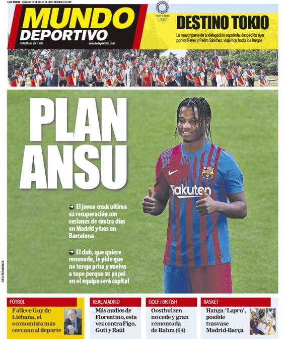西甲今日头版:瓦拉内依然没回应皇马报价 巴萨想与4人降薪续约