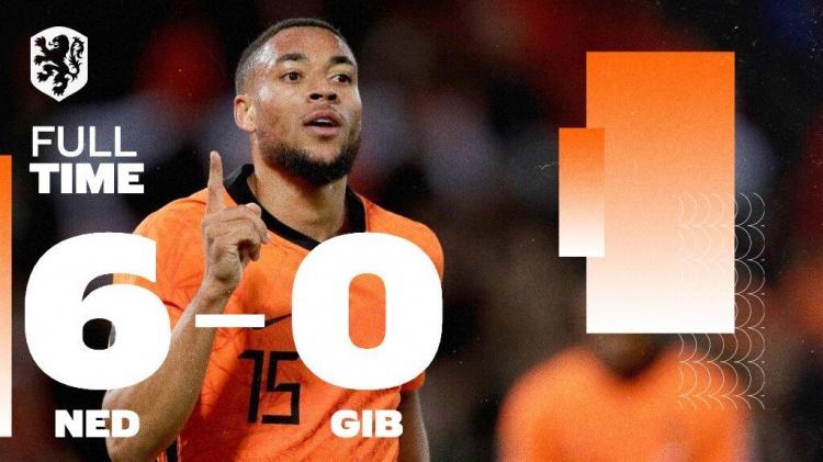 世预赛-德佩两射两传范迪克破门 荷兰6-0直布罗陀