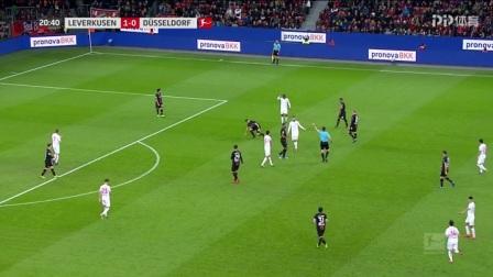 德甲-拜利补射空门哈弗茨6场6球 勒沃库森2-0杜塞尔多夫