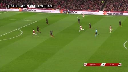 [优酷全场集锦] 欧联-奥巴梅扬梅开二度 阿森纳3-0总分4-3逆转雷恩晋级
