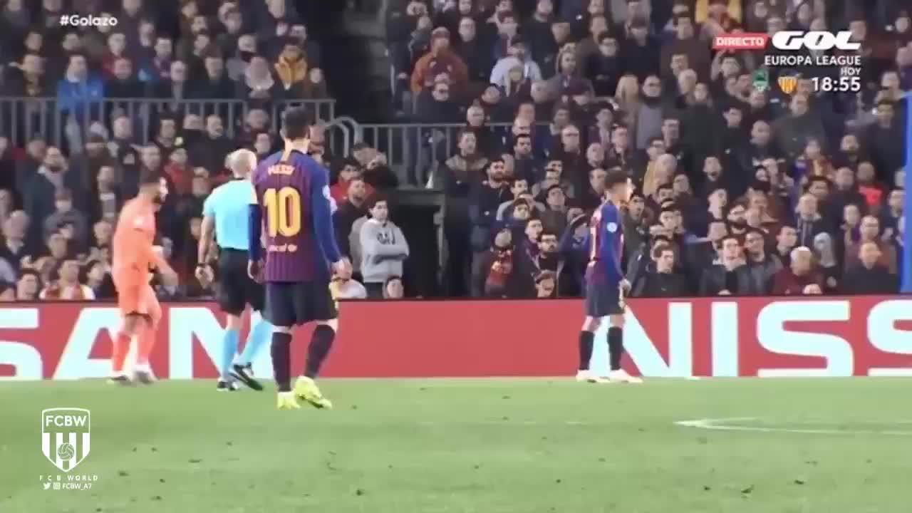 怒了!里昂进球后梅西对球队防守不满