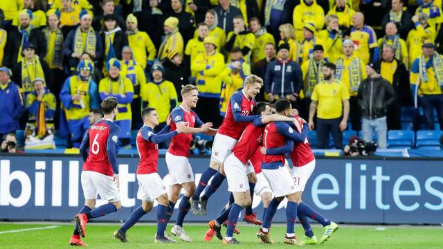 欧预赛-进球大战 挪威主场3-3战平瑞典