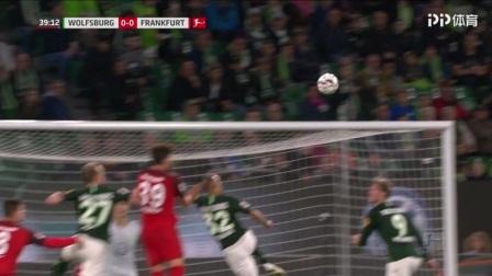 德甲-德古兹曼破门 狼堡2中柱1-1平法拉克福