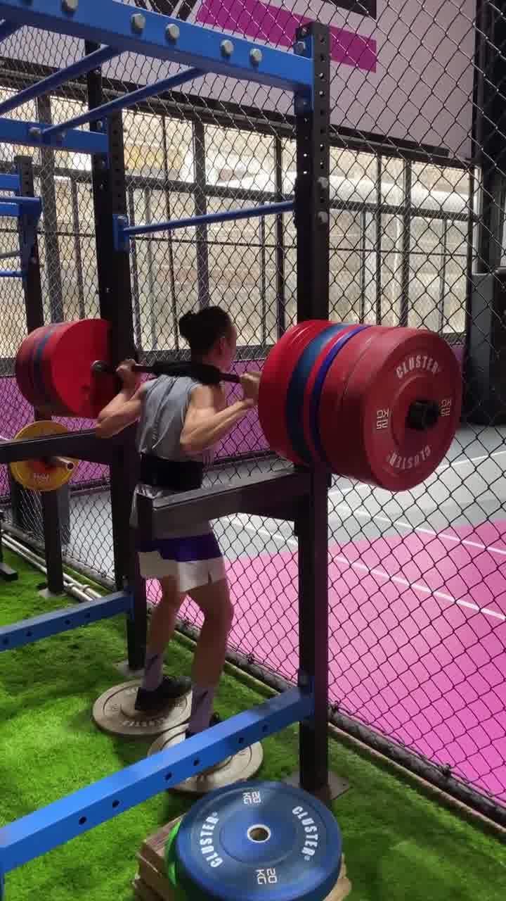 陈登星举重900斤走起 危险动作请勿模仿