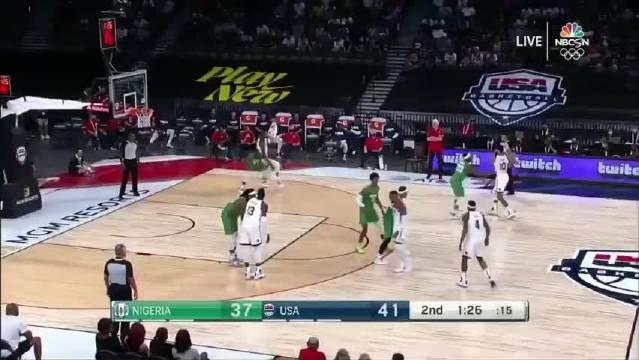 【蜗牛电竞】🏀热身赛-尼日利亚男篮20记三分力克美国男篮!