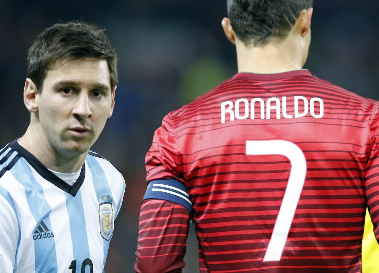谁在国家队表现更好?阿根廷媒体TyC建议投票,66.9%选C罗