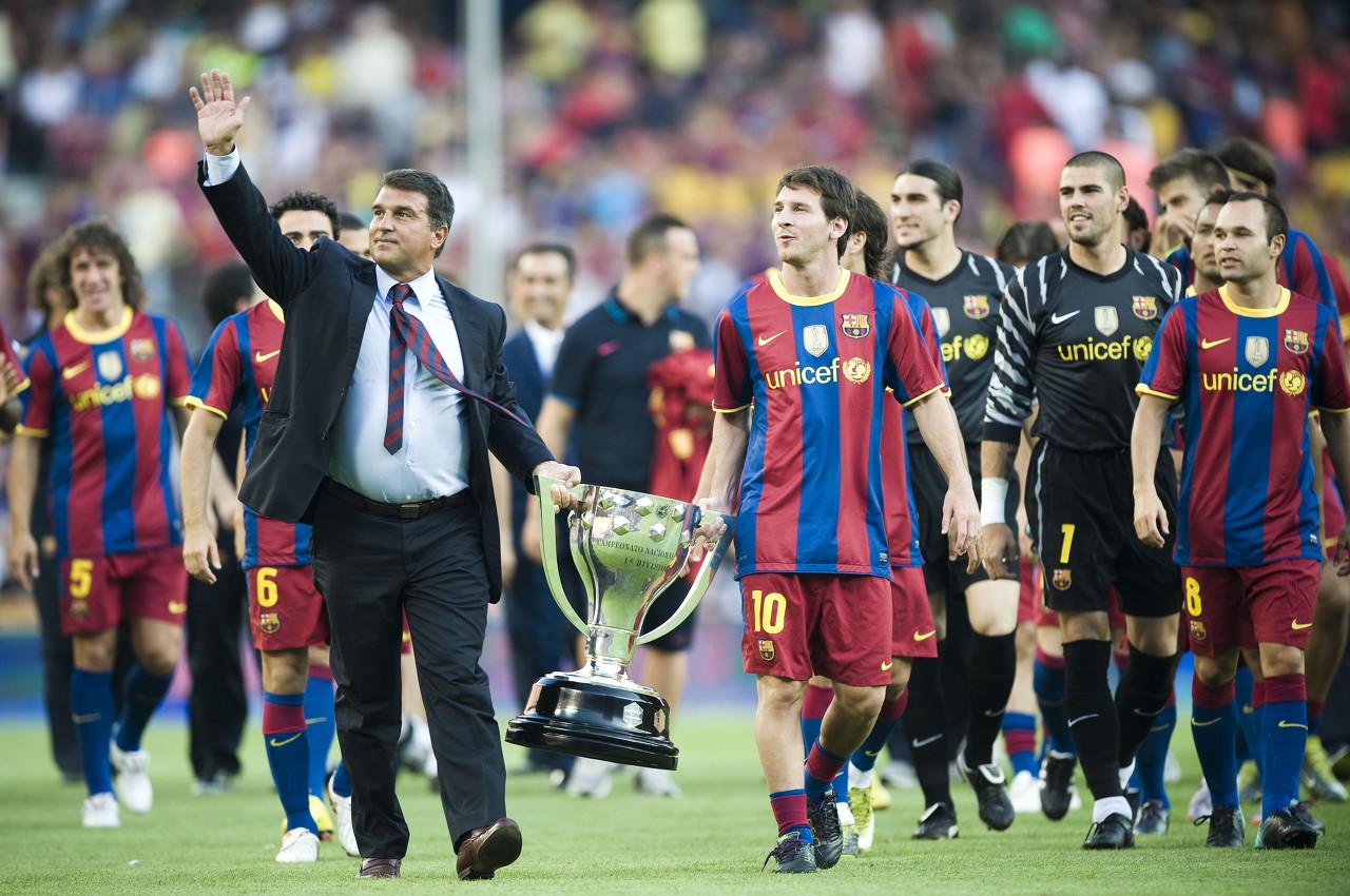 拉波尔塔:梅西作出了正确决议,请持续加油带领球队发明前史