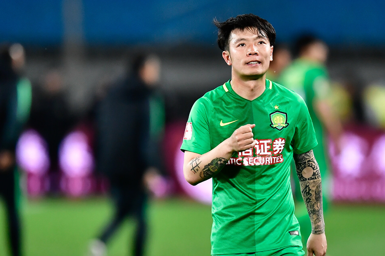 张稀哲41球登顶国安联赛进球榜,接连11赛季联赛取得进球