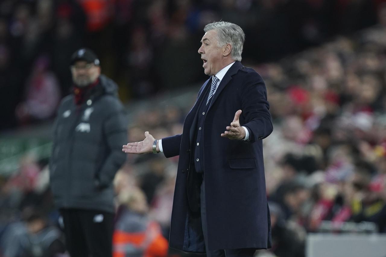 安切洛蒂:埃弗顿要回报球迷的支持,希望利物浦发挥出水平
