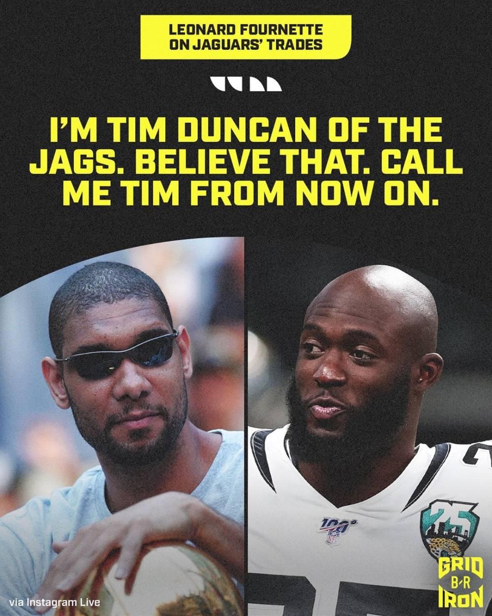 NFL球员福内特笑谈自己未被交易:我就是我们队的邓肯